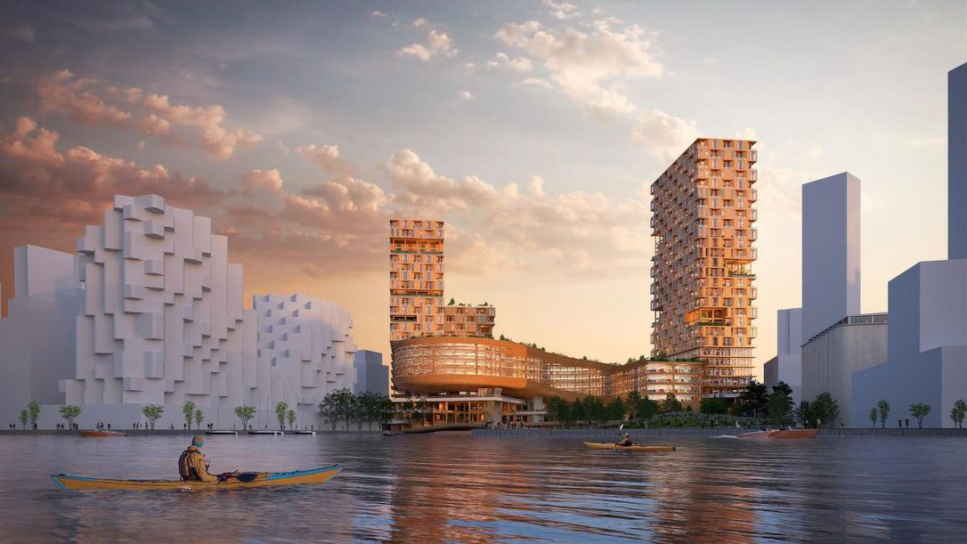 Sidewalk Labs wood building proposal for Toronto that won't be built.